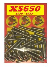 Yamaha XS650 - Crankcase Covers Kit - A2 Stainless Philips Head Screws