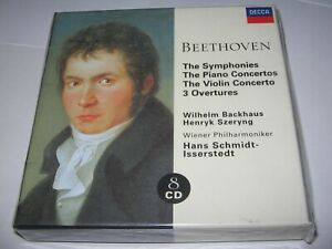 BEETHOVEN : THE SYMPHONIES (1959/70) NEW DECCA 8 CD BOX SET  Backhaus Isserstedt