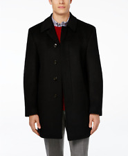 Ralph Lauren Jake Solid Wool Blend Overcoat  Black  Size 36R Mens Coat msrp $350