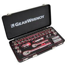 "GearWrench 42Pc 1/4"" 3/8"" Drive Socket Set Metal Case 83050 Lifetime Warranty"