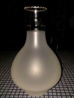 New Vintage XL Glass Oil Lamp Chimney Frosted 4 x 11.5  with 7 inch bulge RARE