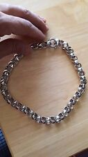"""HSN Sevilla Silver Circle Link 17"""" Chain Necklace - MSRP $799.00 - 63.2 grams"""