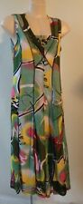 Cordelia St long print dress Size 10 sleeveless lined stretch