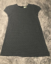 Pre-owned Size Large Anthropologie Maeve Tunic Women's Dress Black | Dots Color