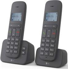 Telekom Sinus CA 37 duo anthrazit DECT Telefon mit AB Anrufbeantworter NEU OVP