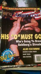 "Wrestle America Magazine February 1999 Owen Hart, Goldberg, ""NWA Revival"", More"