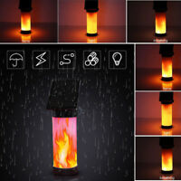 NEW LED Solar Path Torch Dancing Flame Light Flickering Garden Outdoor Wall Lamp
