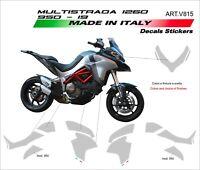 Kit adesivi grafiche personalizzate per Ducati Multistrada 1200