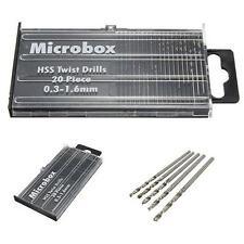 20pc Mini Micro Drill Set HSS 0.3 - 1.6mmTWIST DRILLS Model CRAFT HOBBY JEWELLRY
