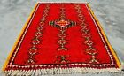 Authentic Hand Knotted Vintage Russian Julkras Wool Area Rug 3 x 2 (11299 KBN)