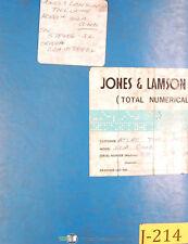 Jones & Lamson Textron A-Line 312A, Lathe Diagrams Manual 1980