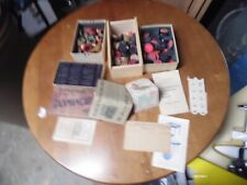 VINTAGE LOT OF WOODEN GAME PIECES CHECKERS CARROM  DOMINOES ESTATE FIND