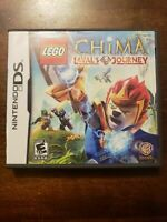 LEGO CHIMA LAVALS JOURNEY - NINTENDO DS - COMPLETE W/ MANUAL - FREE S/H - (B25A)