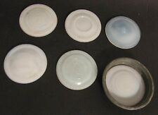 Antique Vintage Milk Glass Canning Jar Lid Insert Seals Lot of 6