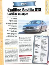 Cadillac Seville STS 1991 USA Car Auto FICHE FRANCE