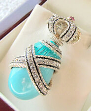 SALE ! OUTSTANDING PENDANT MADE OF SOLID STERLING SILVER 925 GENUINE TURQUOISE