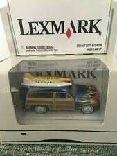 LEXMARK JOHNNY LIGHTNING MERCURY WOODY SURF WAGON CAR BLUE NEW IN BOX