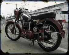 Bsa C11 03 A4 Photo Print Motorbike Vintage Aged