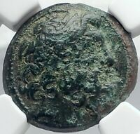ANTIOCH on the ORONTES Authentic Ancient 41BC Greek Coin w ZEUS NGC i82074