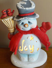 Ceramic Bisque Ready to Paint Small Jack the Snowman with Joy electric included