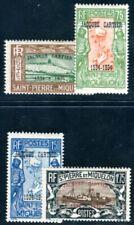 ST PIERRE et MIQUELON 1934 Yvert 159A-D * TEILSATZ CARTIER (F4321
