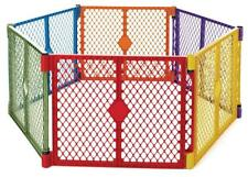 North States Superyard Colorplay 6-Panel Play Yard, Portable, Multi-Colored