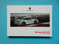 Prospekt / Buch / Katalog / Brochure Porsche 911 (991.1) GT3  03/13