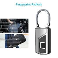 Smart Fingerprint Padlock Door Lock Keyless Travel Suitcase Micro USB Anti-theft
