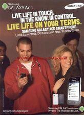 Samsung Galaxy Ace Phone 2011 Magazine Advert #3167