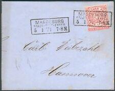 NDP Brief Magdeburg 1871 orig. gelaufen nach Hannover RARITÄT