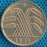 PIÈCE MONNAIE ALLEMAGNE 1936 F 10 PFENNIG Ref 0281 *