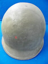 VINTAGE WW II STEEL POT M1 HELMET REAR SEAM SWIVEL BALE