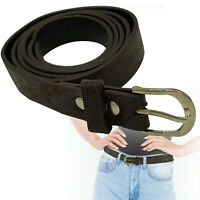 18mm Brown Faux Leather Waist Belt Stylish Fashion Waistband Casual Dress Jeans