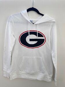 Georgia Bulldogs Youth Champion Hoodie Sweatshirt Medium White Black UGA G Dawgs
