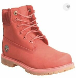 """Timberland Women 6""""Inch LIMITED EDITION Dark Pink Waterproof Double Boot A1WFJ"""
