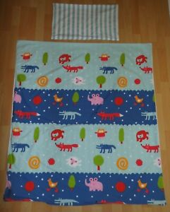 IKEA Kinder Bettwäsche Tiere Barnslig Natten Stoff fabric vintage bedding animal