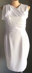 OXIULI White Sleeveless Stretch Sheath Cocktail Dress Plus Sizes 16 & 20