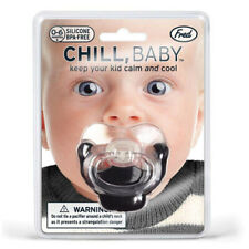 Chill Baby Goatee Dummy Pacifier Goatie Beard Fred PVC Free Safety Approved