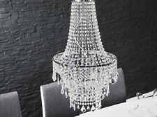 ELEGANTE ARAÑA DE CRISTAL iluminación Claro Transparente Lámpara Colgante 70cm x