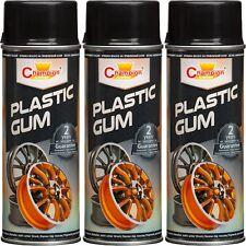 3 Plastic Gum Spray Farbe Schwarz 400ml Felgenspray Felgenfolie