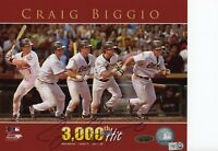 Craig Biggio Signed Houston Astros 3000 Hit 8x10 Photo TRISTAR MLB COA HOF