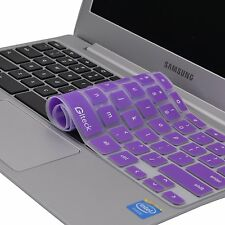 "Glteck-Keyboard Cover Silicone Rubber Skin for Samsung ARM 11.6"" Chromebook 2 3"