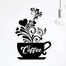 Love Tasses De Café Cuisine Mur Thé Sticker Vinyl Decal Art Restaurant Pub decor