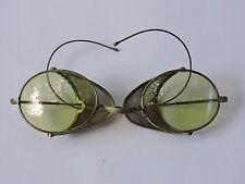 Binocles Lorgnon lunettes a système verres fumé vert anciennes n5