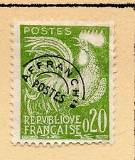 """FRANCE = 20c """"Cock"""" with Pre-Cancel. MH or Used (No Gum) Hinged to page. (b)"""