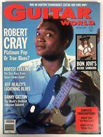 Guitar World Magazine January1989 Vintage Robert Cray Bon Jovi's Richie Sambora