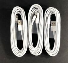 3 Pack 3/6/10Ft USB Cable Heavy Duty Fit iphone 5 6plus 7 Charger Charging Cord