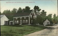 Sebago ME EL Poor Residence & Law Office c1910 Postcard