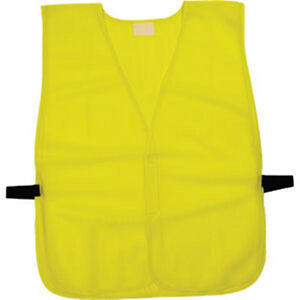 New poncho style one size fits most  lime mesh safety vest SVGN1L