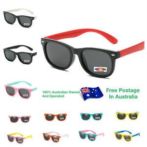 Kids Rubber Flexible Boys Girls Polarised Age 3-10 UV400 Children Sunglasses